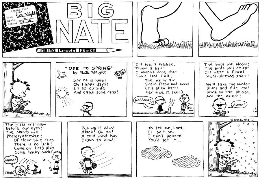 Big Nate Comic Strip for March 26, 1995