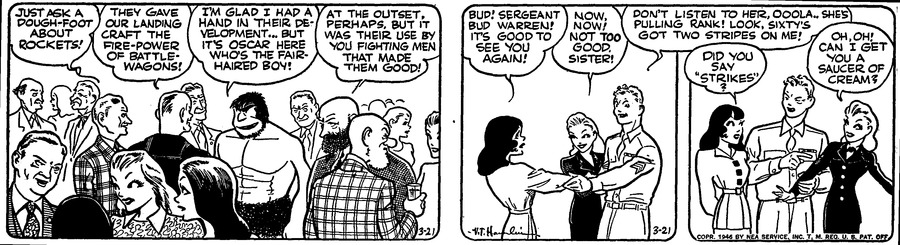 Alley Oop Comic Strip for March 21, 1946