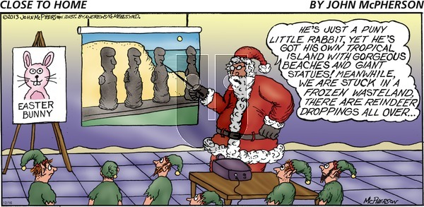 Close to Home on Sunday December 16, 2018 Comic Strip