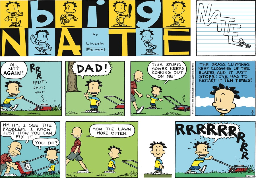 Big Nate Comic Strip for August 03, 2014