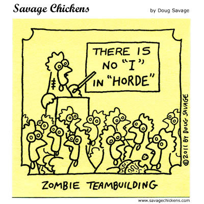 "Zombie Teambuilding: There is no ""I"" in ""Horde"""