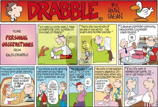 Drabble on Sunday February 23, 2014 Comic Strip