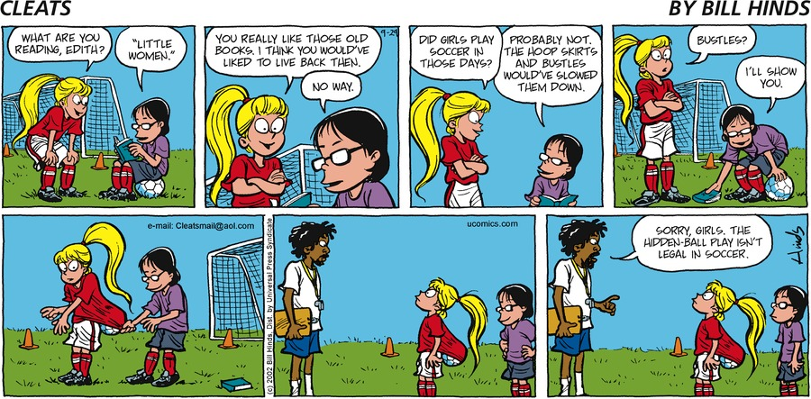 Cleats Comic Strip for September 29, 2002