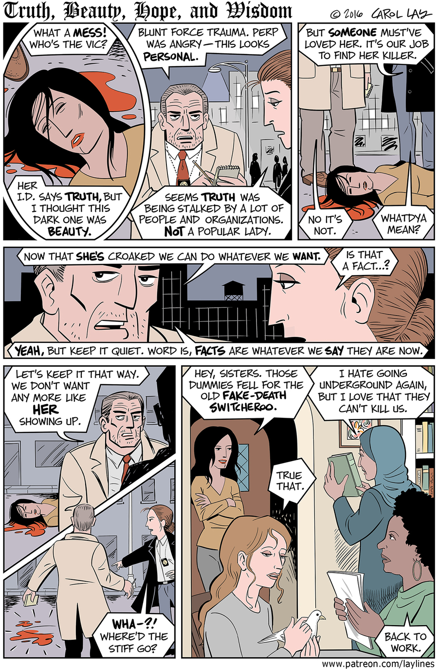 Lay Lines Comic Strip for January 20, 2017