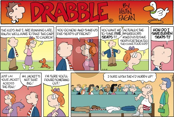 Drabble on Sunday February 10, 2019 Comic Strip