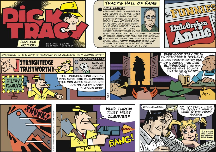 Dick Tracy Comic Strip for March 30, 2014