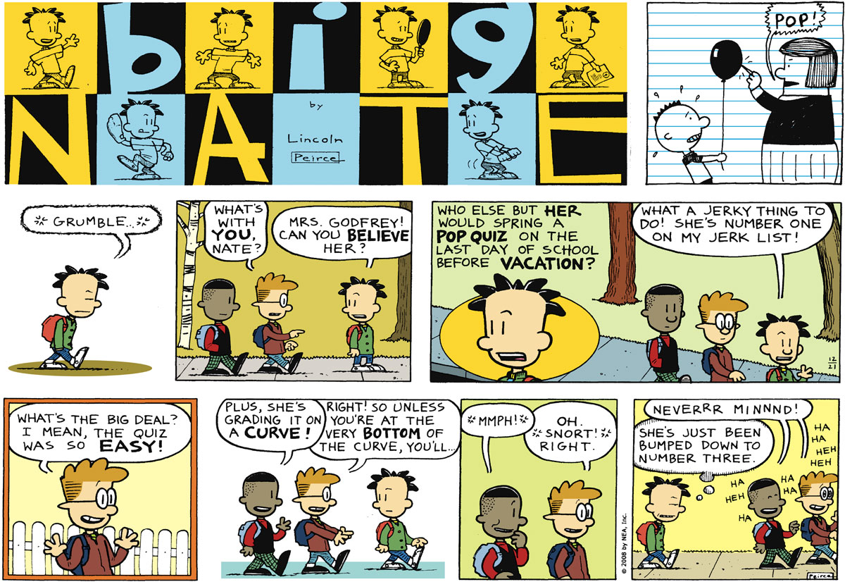 Big Nate Comic Strip for December 21, 2008