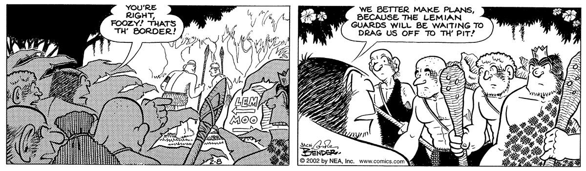 Alley Oop for Feb 8, 2002 Comic Strip