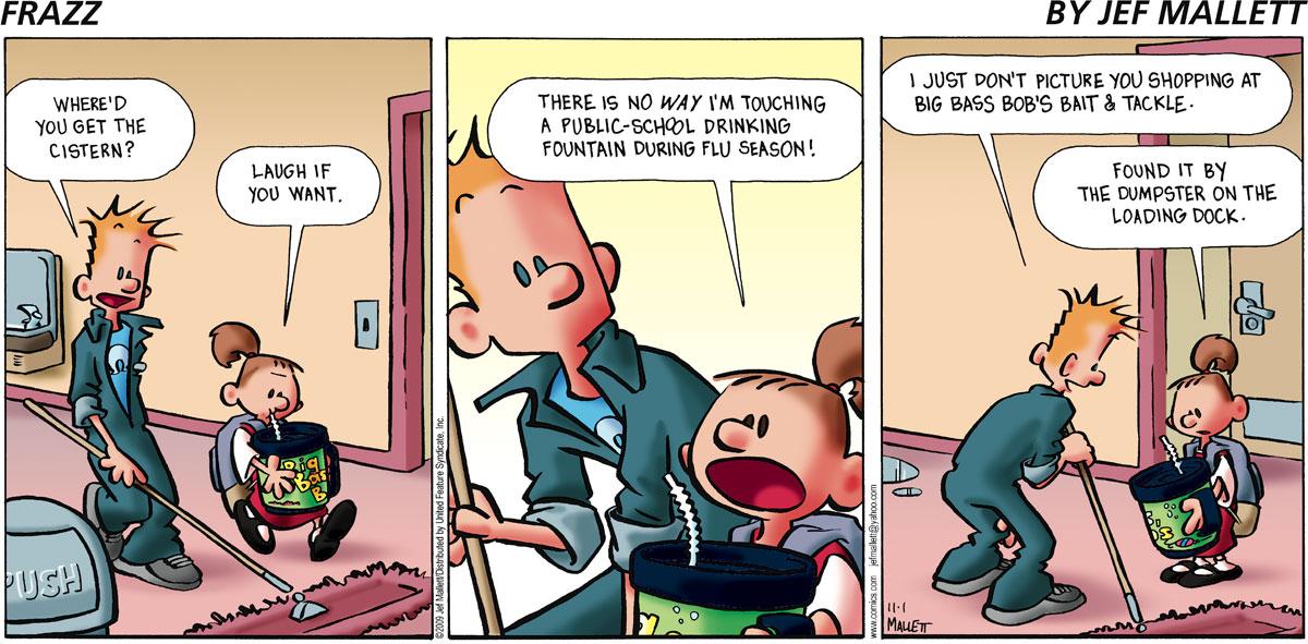 Frazz Comic Strip for November 01, 2009