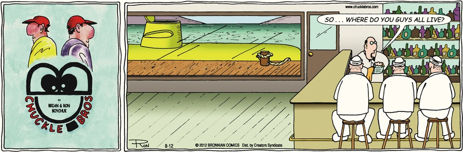 Chuckle Bros Comic Strip for August 12, 2012