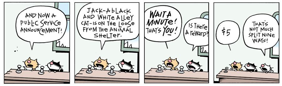 Ten Cats Comic Strip for April 19, 2021