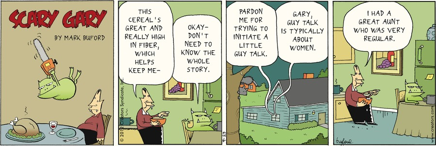 Scary Gary Comic Strip for September 23, 2012