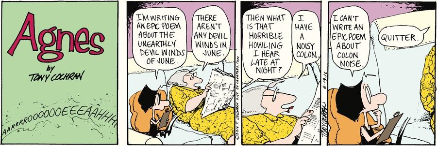 Agnes Comic Strip for June 19, 2016