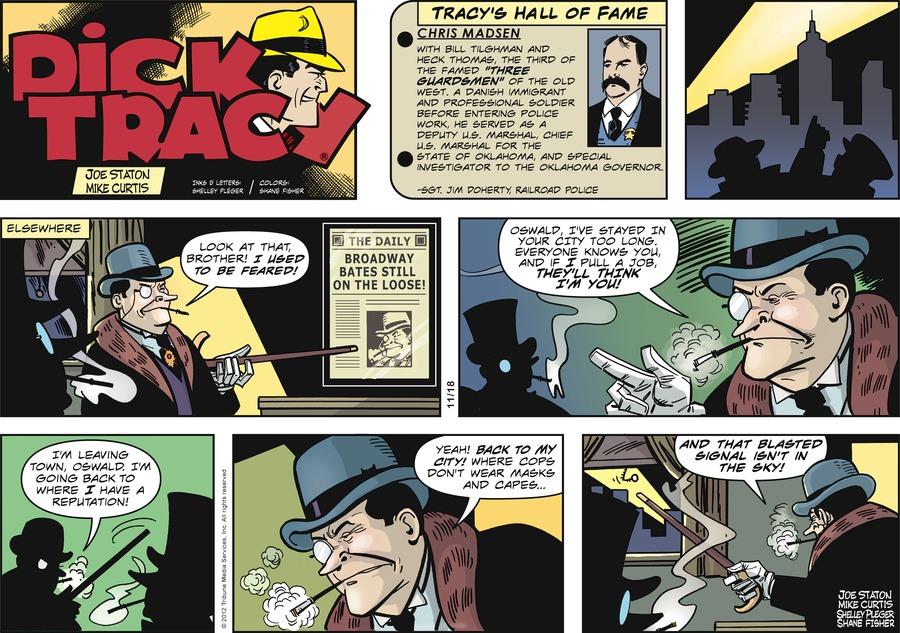 Dick Tracy for Nov 18, 2012 Comic Strip