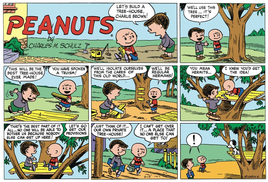 Peanuts Begins Comic Strip for February 16, 2020