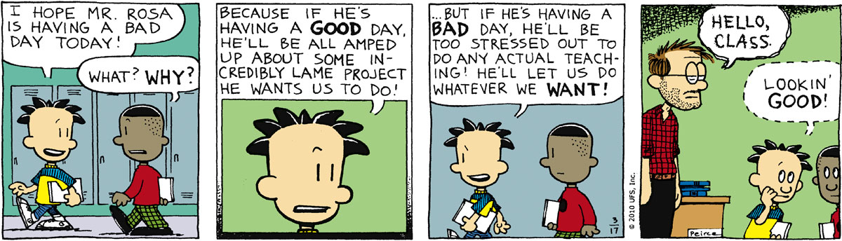 Big Nate Comic Strip for March 17, 2010