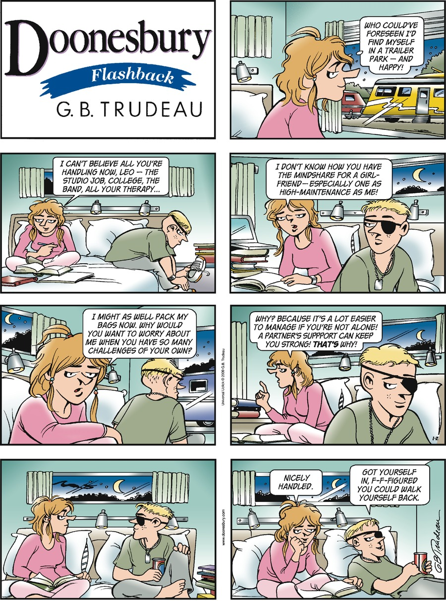 Doonesbury Comic Strip for January 02, 2011