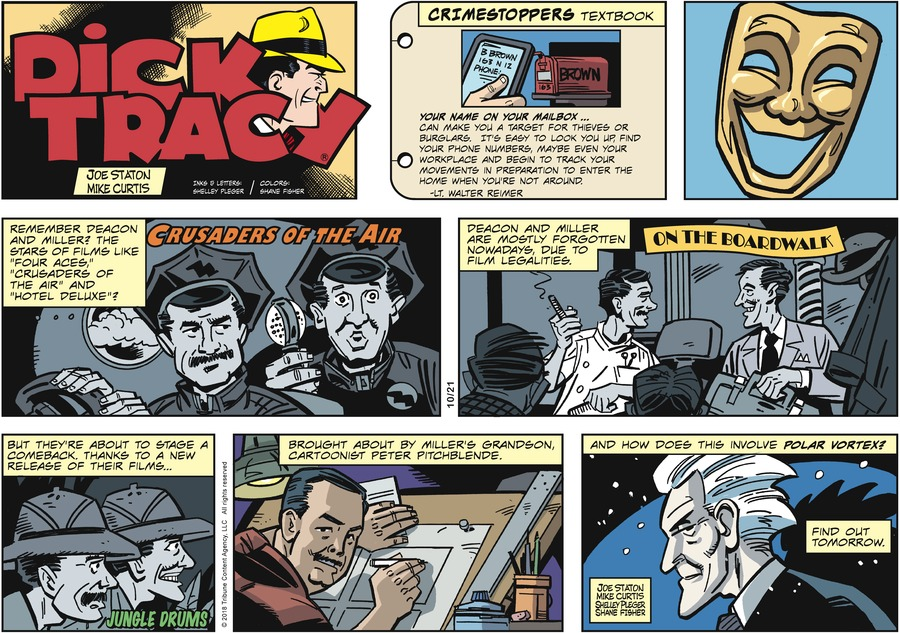 Dick Tracy Comic Strip for October 21, 2018