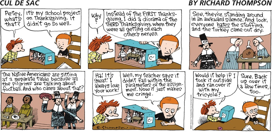 Cul de Sac for Nov 18, 2012 Comic Strip