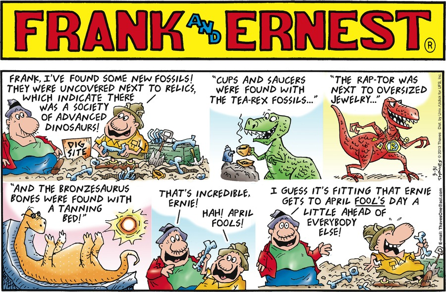 Frank and Ernest Comic Strip for March 31, 2013