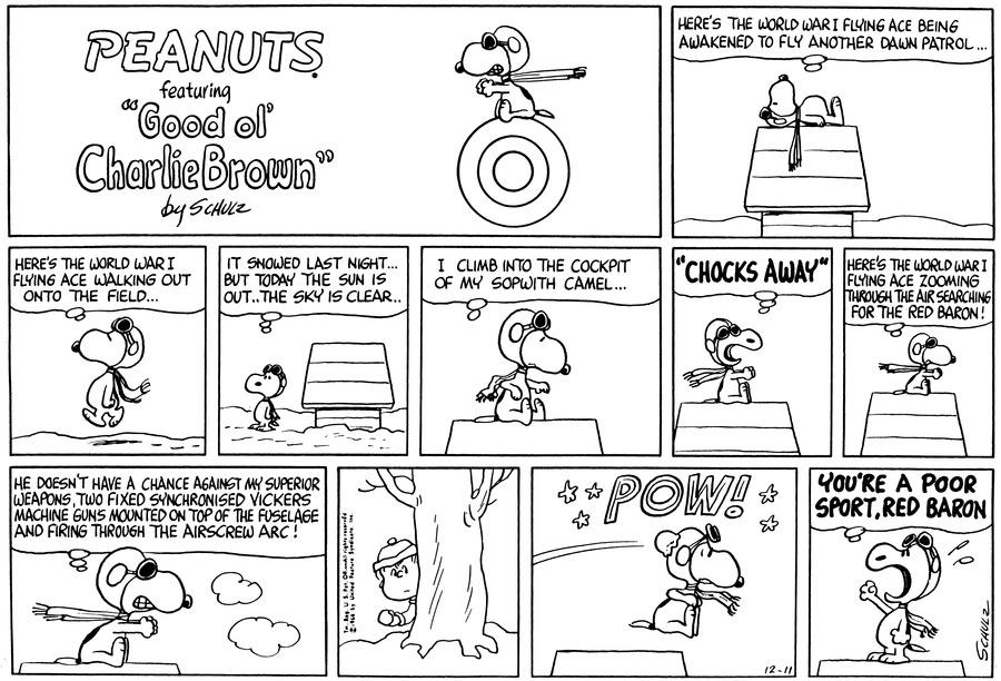 Peanuts for Dec 11, 1966 Comic Strip