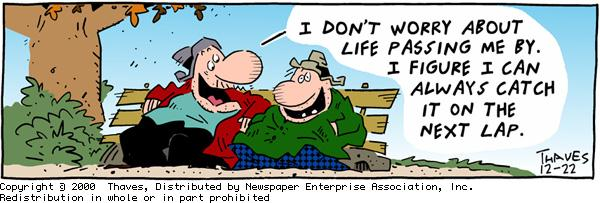 Frank and Ernest Comic Strip for December 22, 2000