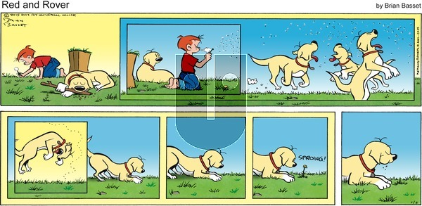 Red and Rover on Sunday July 5, 2015 Comic Strip