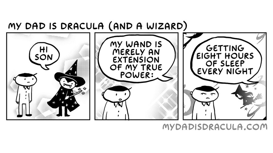 My Dad is Dracula Comic Strip for August 15, 2020