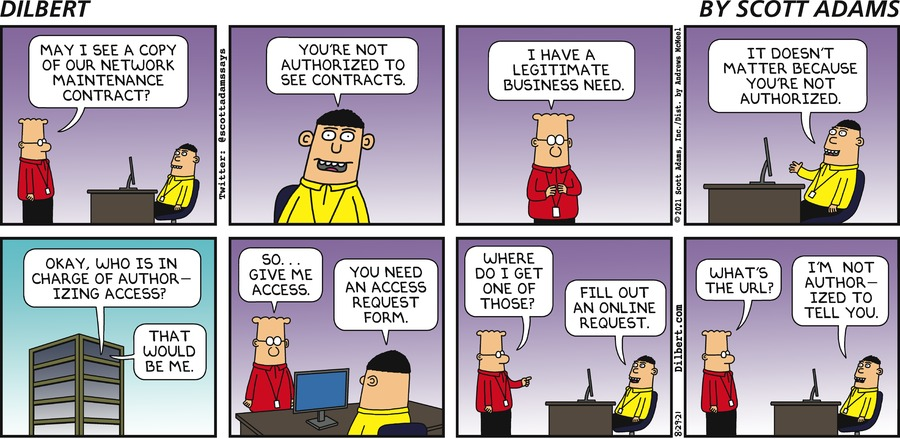 Access To Contracts - Dilbert by Scott Adams