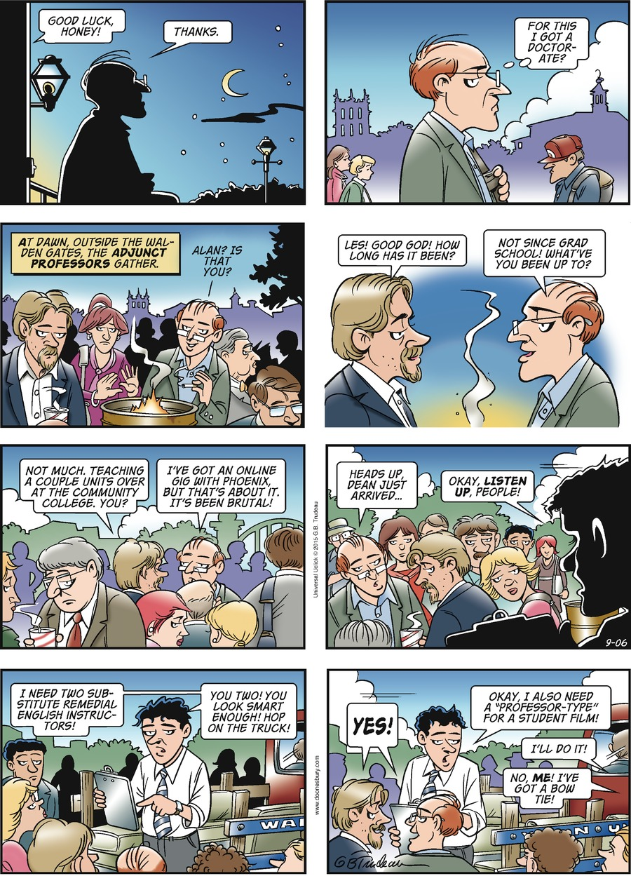 Doonesbury Comic Strip for September 06, 2015