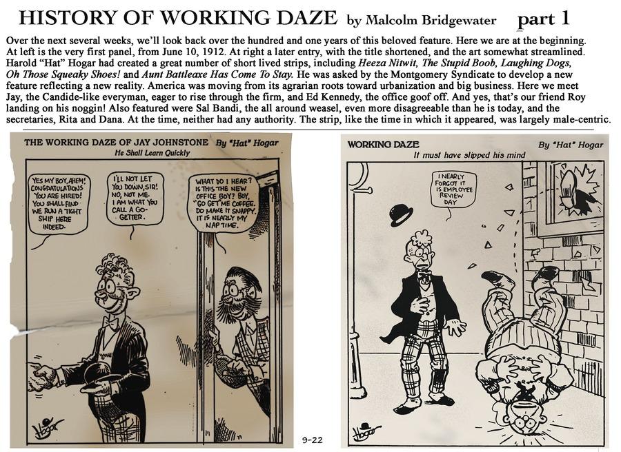 Working Daze Comic Strip for September 22, 2013