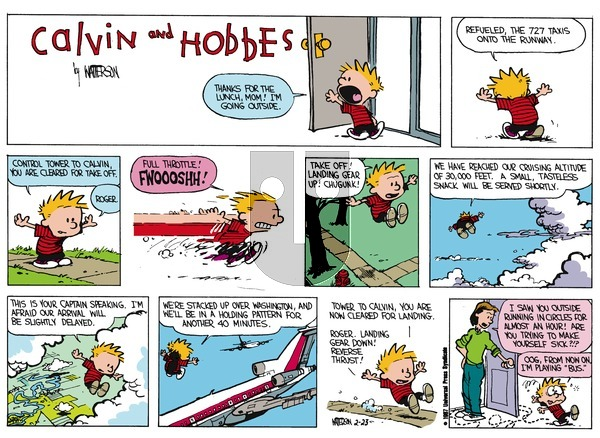 Calvin and Hobbes on Sunday March 29, 1987 Comic Strip