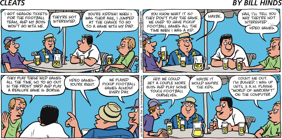 Cleats Comic Strip for September 25, 2005