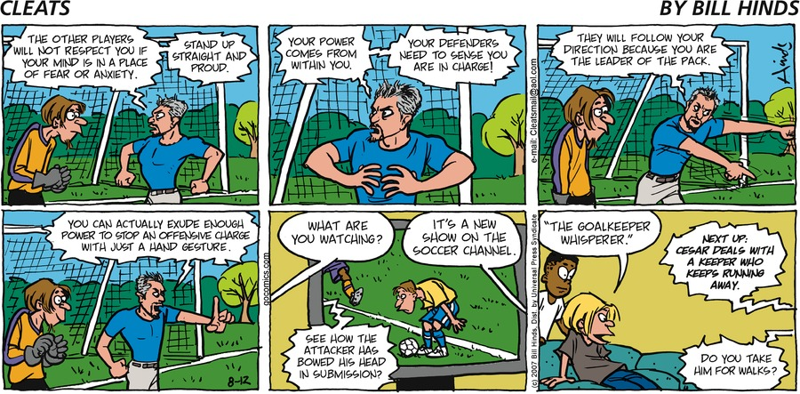 Cleats Comic Strip for August 12, 2007