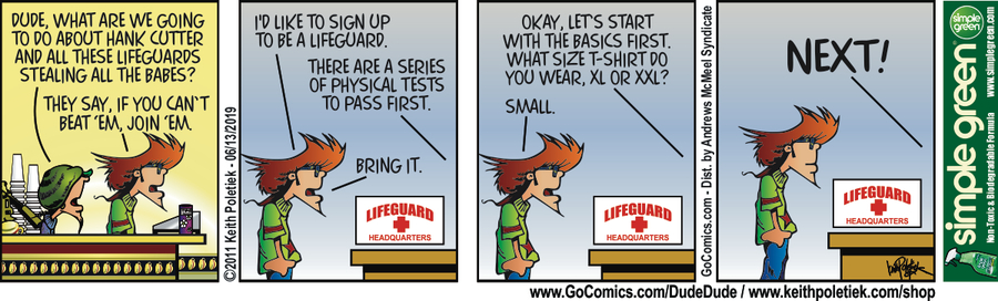 Dude and Dude Comic Strip for June 13, 2019