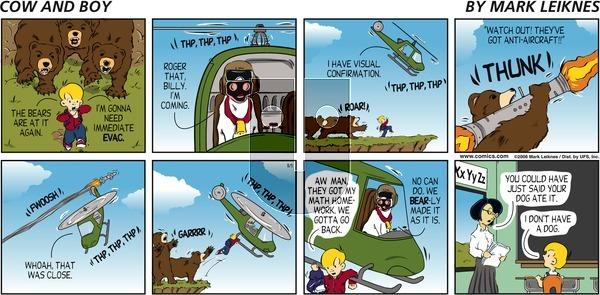 Cow and Boy Classics on Sunday November 5, 2006 Comic Strip