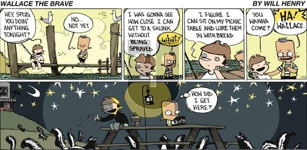 Wallace the Brave on Sunday July 22, 2018 Comic Strip