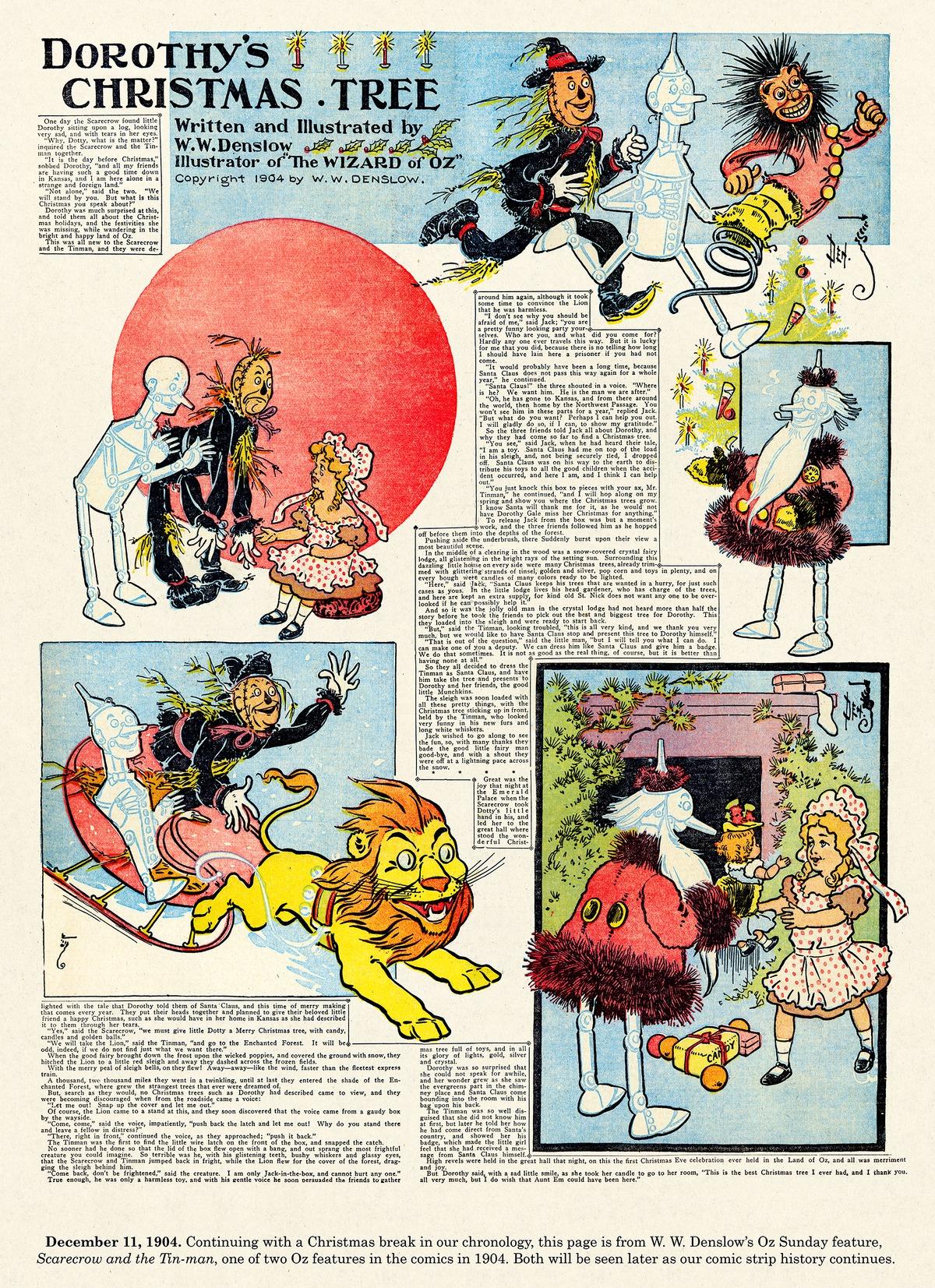 Origins of the Sunday Comics Comic Strip for December 22, 2013