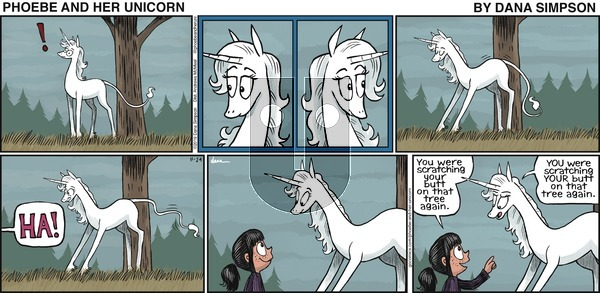Phoebe and Her Unicorn on Sunday November 24, 2019 Comic Strip