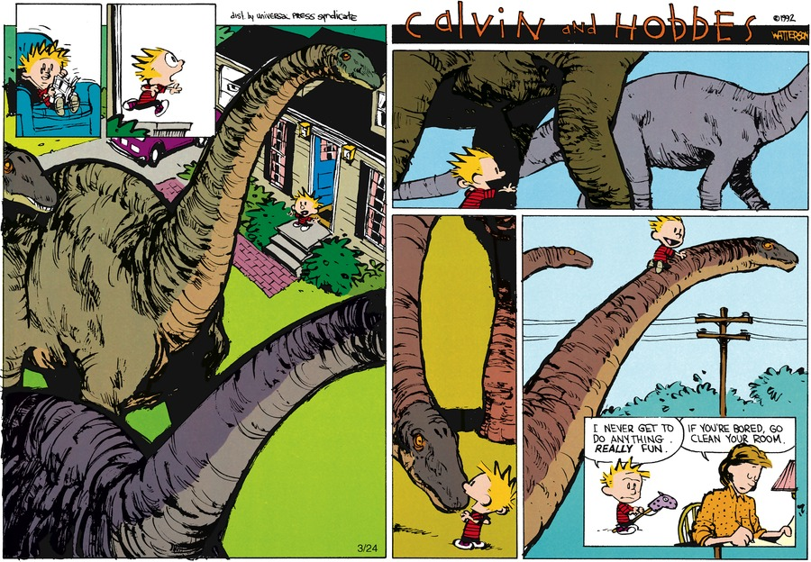 Calvin and Hobbes Comic Strip for May 10, 1992