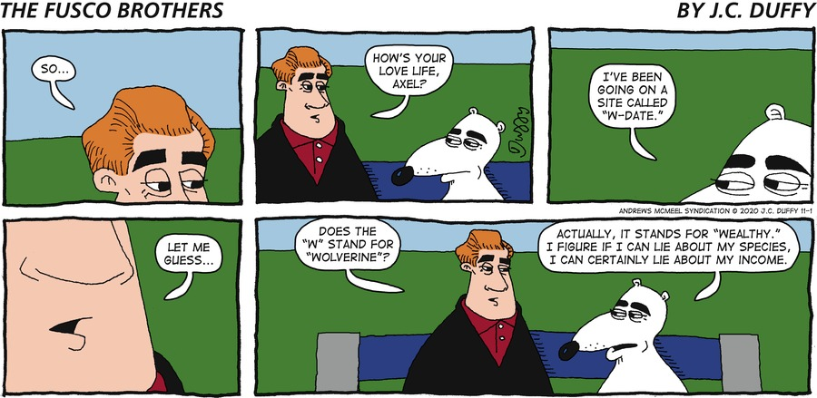The Fusco Brothers Comic Strip for November 01, 2020