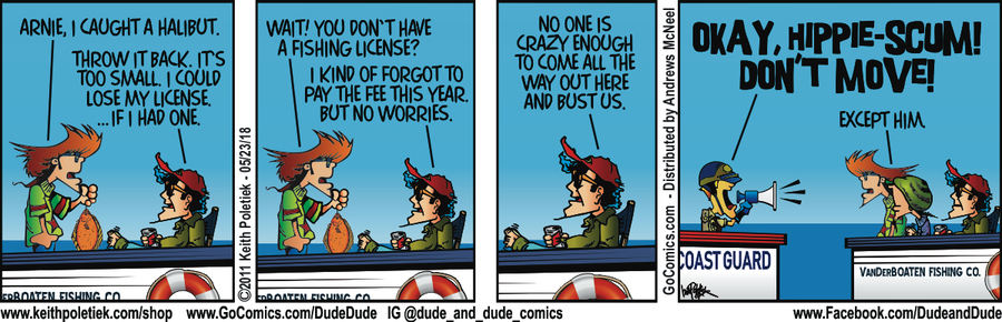 Dude and Dude for May 23, 2018 Comic Strip