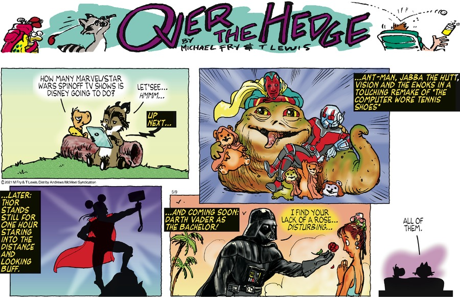 Over the Hedge by T Lewis and Michael Fry on Sun, 09 May 2021