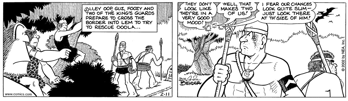Alley Oop for Feb 11, 2002 Comic Strip