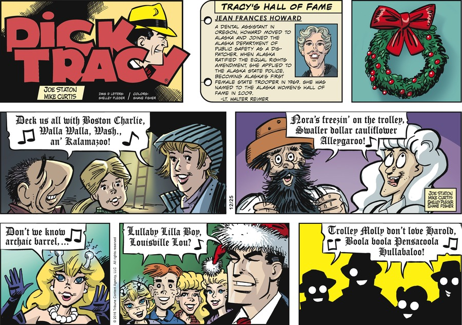 Dick Tracy Comic Strip for December 25, 2016