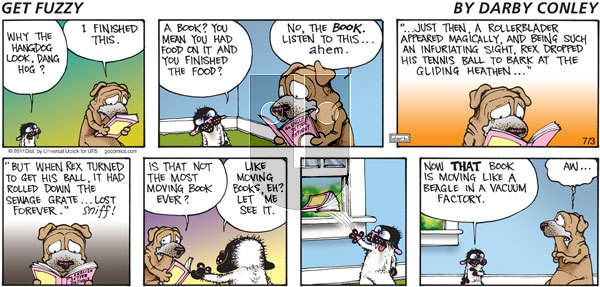 Get Fuzzy on Sunday July 3, 2011 Comic Strip