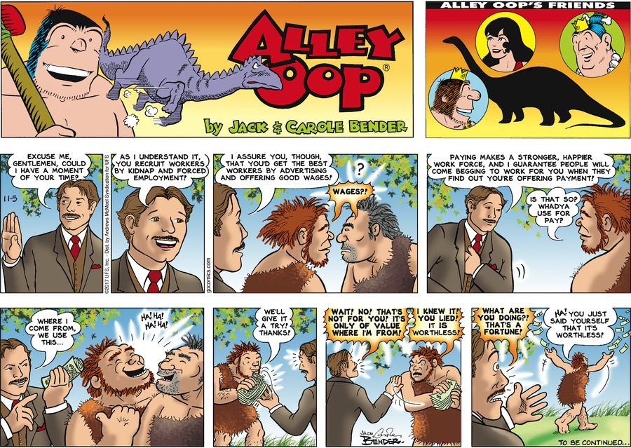 Alley Oop Comic Strip for November 05, 2017