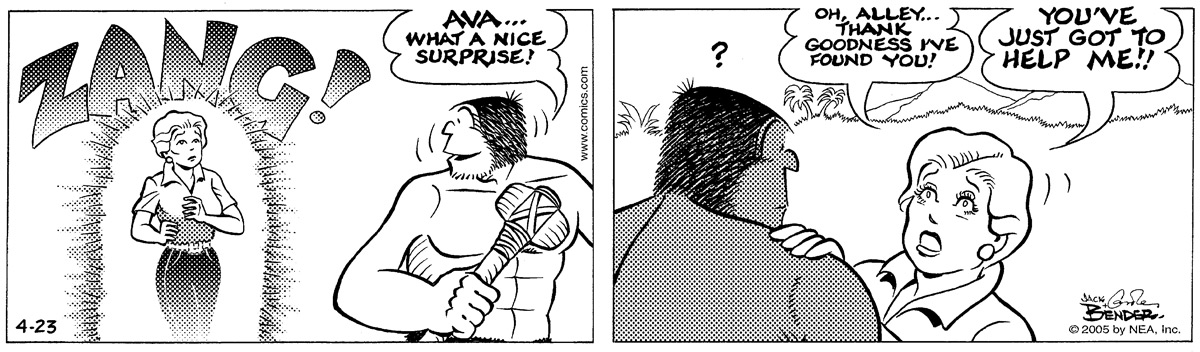 Alley Oop for Apr 23, 2005 Comic Strip