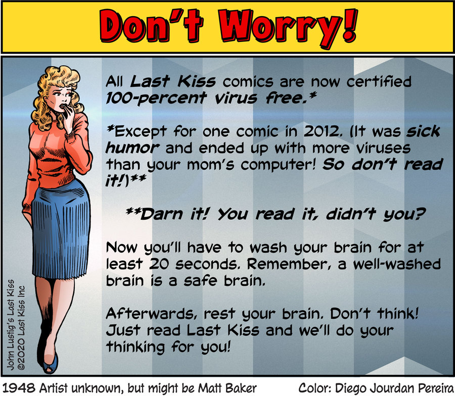 Last Kiss Comic Strip for March 20, 2020