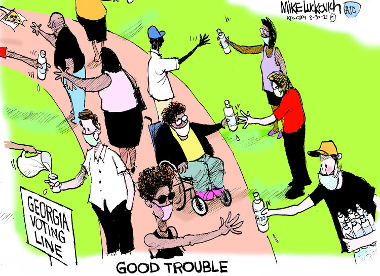 Mike Luckovich Comic Strip for March 30, 2021